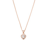 Sterling Silver Cubic Zirconia Heart Necklace - N305RG