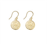 Sterling Silver Filigree Flower Drop Earrings With Gold Plating - E919G
