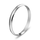 Sterling Silver Hollow Bangle 65X8mm - BG186S