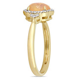 1/8 CT Diamond TW & 3/4 CT TGW Ethiopian Opal-Yellow Fashion Ring 10k Yellow Gold GH I2;I3 - 75000004596