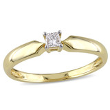 1/10 CT Princess Diamond TW Solitaire Ring 10k Yellow Gold I2;I3 - 75000004549