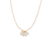 Gold Freshwater Pearl Cluster Drop Pendant Necklace - 30100418