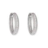 Cubic Zirconia Pave Hoops - 10100468