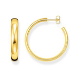 Yellow Gold Plated Hoop Earrings 5.7 X 36mm - CR640-413-39