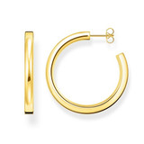 Yellow Gold Plated Hoop Earrings 4 X 36.9mm - CR643-413-39