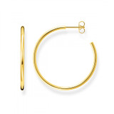 Yellow Gold Plated Hoop Earrings 2 X 36mm - CR645-413-39