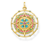 Tropical Aztec Yellow Gold Plated Pendant - PE843-973-7