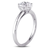 1 1/4 CT TGW Created White Sapphire Solitaire Ring in 10k White Gold - 75000004676
