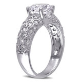 3 1/10 CT TGW Created White Sapphire Ring in 10k White Gold - 75000004661
