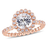 2 5/8 CT TGW Created White Sapphire Ring in 10k Pink Gold-13 - 75000004665
