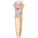 1/10 CT Diamond TW & 1 1/5 CT TGW Created White Sapphire Fashion Ring 10k Rose Gold - 75000004666