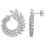 8-1/10ct TGW Cubic Zirconia Earrings in Sterling Silver - 75000004615