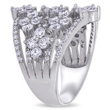 1-1/8ct TGW Cubic Zirconia Ring in Sterling Silver - 75000004633
