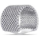 5-3/4ct TGW Cubic Zirconia Ring in Sterling Silver - 75000004632