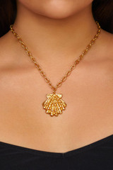 Aquatic Necklace - aquatic-necklace-shell-gold