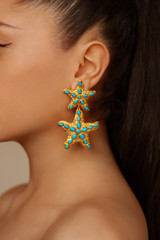Carlotta Earrings - carlotta-earrings-starfish-turquoise-gold