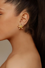 Stella Earrings - stella-earrings-starfish-gold-rose-quartz