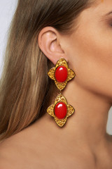 Carolina Earrings - carolina-earrings-coral-gold