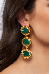 Alexandria Earrings - alexandria-earrings-green-onyx-gold-silver