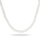 18 6.5-7mm Freshwater Cultured White Pearl Necklace w/ Clasp - 75000005023