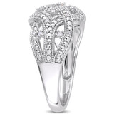 1/8 CT Diamond TW Infinity Ring in Sterling Silver - 75000004989