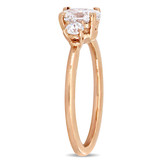 1 CT Oval and Round Diamonds TW Fashion Ring 14k Pink Gold GH I1 - 75000004339