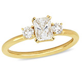 1 CT Radiant and Round Diamonds TW Fashion Ring 14k Yellow Gold GH I1 - 75000004340