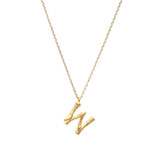 Letter Necklace - W - ASN1134G-W