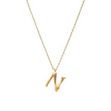 Letter Necklace - N - ASN1134G-N