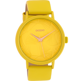 Rose Gold on Bright Yellow Leather Womans Watch - C10395