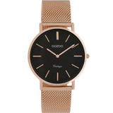 Vintage Rose Gold Mesh Womans Watch - C9926