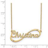 10k Yellow Gold Name with Diamonds Necklace - IJ00040024