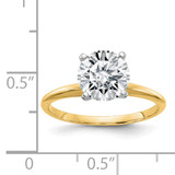 2ct Moissanite Solitaire Engagement Ring in 14k Yellow Gold - IJ00040085