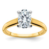 2.72ct Moissanite Oval Colourless Engagement Ring in 14k Yellow Gold - IJ00040086