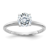 1/2ct Moissanite Solitaire Engagement Ring in 14k White Gold - IJ00040087