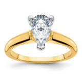 3.09ct Moissanite Pear Colourless Engagement Ring in 14k Yellow Gold - IJ00040089