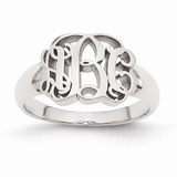 Custom Made Signet Initial Ring in Sterling Silver - IJ00040109