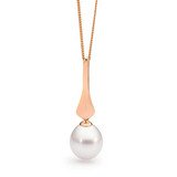 9ct Rose Gold White Drop 10-10.5mm Freshwater Pearl Pendant - IP015P-9RG