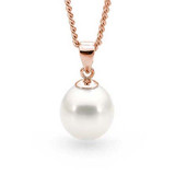 9ct Rose Gold White 7.5-8mm Freshwater Pearl Pendant - IP22WRG