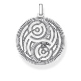 Labyrinth Black Cat Ying Yang Pendant - PE865-637-21