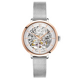 Pierre Lannier Automatic Skeleton Rose Gold Silver/Silver 37mm 312B628