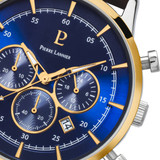 Pierre Lannier Capital Chronograph Gold Blue/Brown Leather 43mm 224G264
