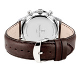 Pierre Lannier Capital Chronograph Silver Blue/Brown Leather 43mm 224G169