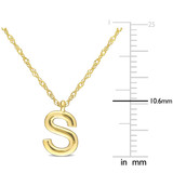 "Initial ""S"" Pendant with Chain in 14k Yellow Gold"