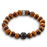 Tigers Eye Bead Bracelet - A1408-806-2