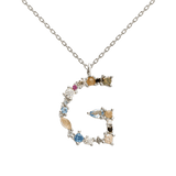 Letter G Necklace Silver - CO02-102-U