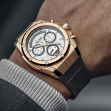 Ace Genesis Limited Edition 44mm Chronograph Rose Gold Case Black Leather - ACE112