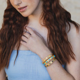 Audrey Adjustable Skinny Cuff In Turquoise