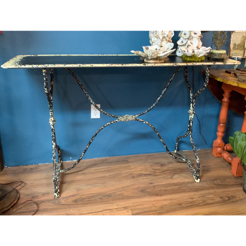 Distressed Metal Table