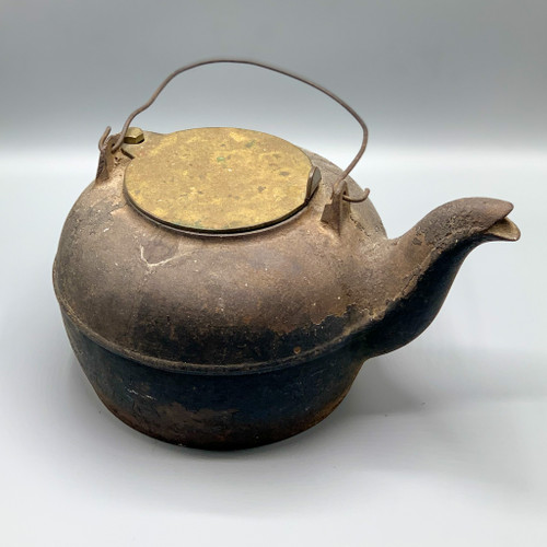 Antique Cast Iron Kettle